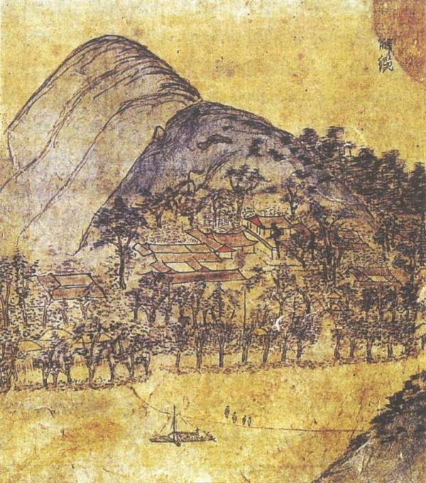 사본 -〈동호해람(東湖解纜)〉, 《허주부군산수유첩(虛舟府君山水遺帖)》 임청각, 1763년.jpg