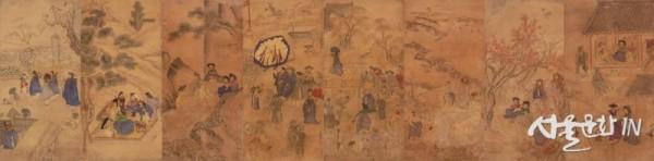 풍속화_風俗圖, 야연(野宴),가두매점(假頭買占)_국립중앙박물관.jpg