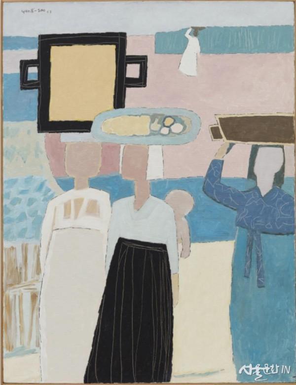 백영수, 장에 가는 길, 1953, 캔버스에 유채, 116 x 89cm 01.jpg